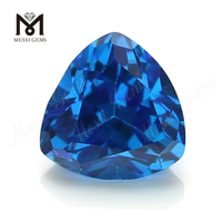 High Quality trillion Shape 8*8mm Blue topaz CZ Cubic Zirconia Stone Price
