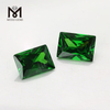 Top selling bagutte cut 10x14mm wholesale cubic zirconia green cz gemstone