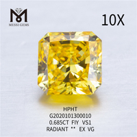 0.685ct FVY RADIANT CUT loose lab grown diamond VG