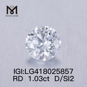 1.03CT D/SI2 round VG lab grown diamond