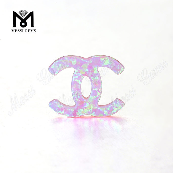 Factory Price Synthetic Pink Opal Stone