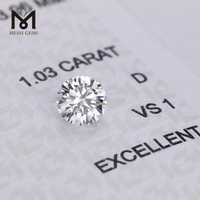 1.03CT D VS1 Synthetic IGI per carat price factory stock lab grwon HPHT CVD diamond