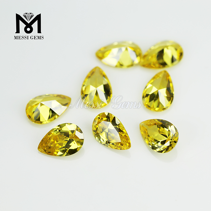 8*12 pear shape high quality gemstone artificial zirconia