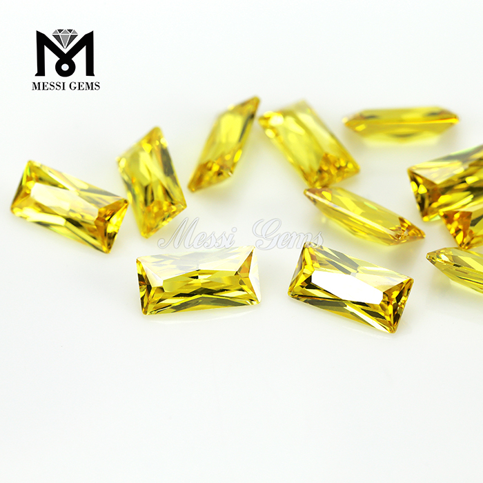 5*10MM baguette shape high quality gemstone artificial zirconia