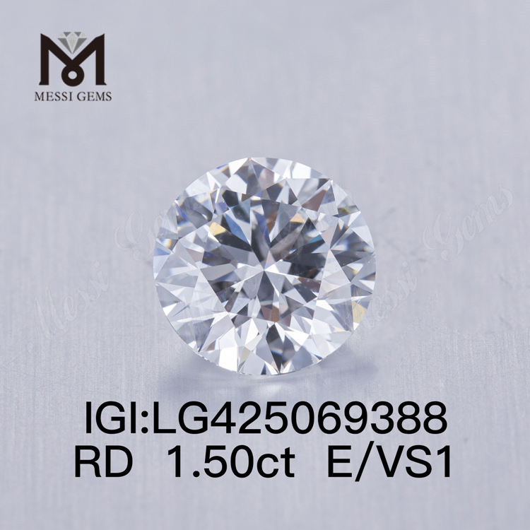 1.50 carat E/VS1 VG lab grown diamond Round
