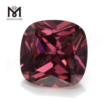 Wholesale Loose cushion Shape 8x8mm CZ rhodolite Cubic Zirconia Stone