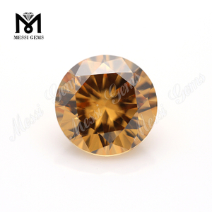 Factory high quality 10mm round cubic zirconia stone price