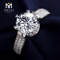 Moissanite diamond rings six claw set 18K white gold jewelry ring for men and women Engagement Wedding